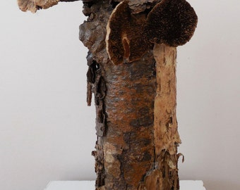 "Woodland Bark Vessel ""Beaker"""