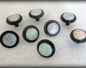Cabinet/Drawer/Furniture Knobs/Pulls, Polymer Clay Knobs, Small Shimmery Pastel Rubbed Bronze Knobs, Closeout Knobs, Bargain Knobs