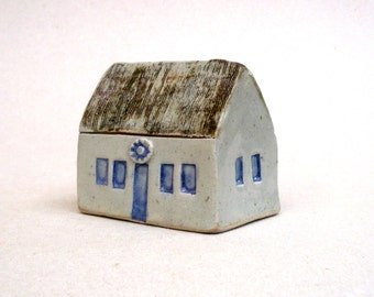 Traditional House , Miniature House , Fine Art Ceramics ,  Country Cottage