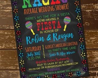 Nacho Average Wedding Shower, Nacho Average Shower Invitation, Nacho Average Shower Invite, Fiesta Invite, Fiesta Bridal Shower Invite,