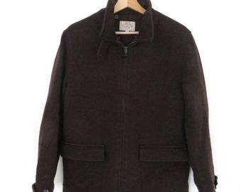 ARMANI JEANS VintageWomen's Brow n Wool Coat Jacket, sz. 12