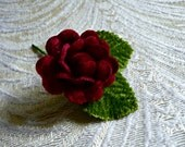 Tiny Velvet Rose Dark Red Burgundy for Hair Pins Boutonnieres Hair Crowns Head Bands Hats Crafts 4FV0189BU