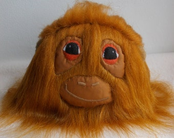 stuffed animal, furry animal, monkey toy, plush monkey, fluffy animal, orangutan toy, fluffy monkey, monster toy, SALE