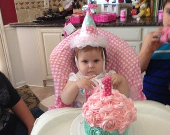 Girls First Birthday Hat -  Lucy Birthday Hat