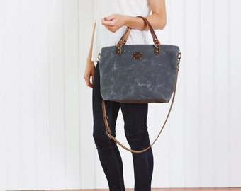 Waxed Canvas Cross Body Bag, Crossbody Day Bag, Waxed Canvas, Waxed Canvas Bag, Waxed Canvas Tote, Waxed Canvas Handbag, Waxed Canvas Purse