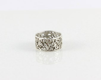Sterling Silver Filigree Ring size 12