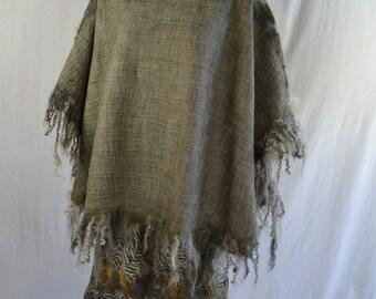 Pretty felted poncho  wool