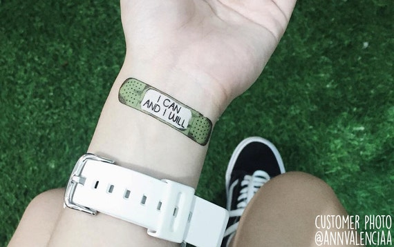 15 motivational bandage tattoos the rider by for Band aid tattoo