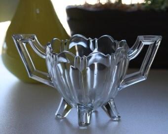 Vintage Small Glass Candy Dish -- Vintage Glass Trinket Dish