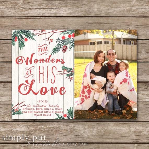 Items Similar To Christmas Photo Card Religious Printable