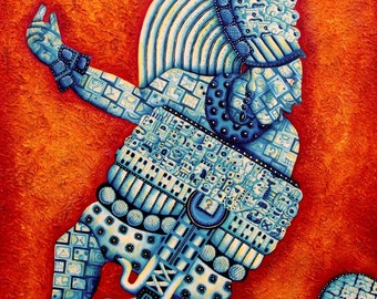 mayanart aztecart fineart cosmic galactic