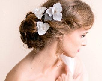 Hair Pins Iris Flower - Bridal Pins - Wedding Pins - Flower Pins - Bridal Hair Accessory - Wedding Hair Accessory