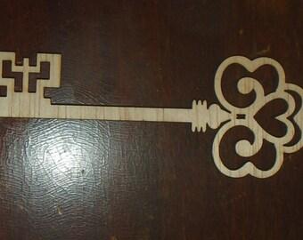 key cutout/ wood cutout/ MEDIUM