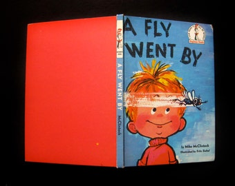 """Vintage 1958 Book- """"A Fly Went By"""" by Mike McClintock and Illustrated by Fritz Siebel, Dr. Seuss Beginner Books, I Can Read It All By Myself"""