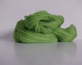 Cotswold Handspun wool yarn, Lime green, Sport #2, 328yrds