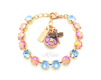 YAY FOR SPRING 8mm Bracelet Made With Swarovski Crystal *Pick Your Finish *Karnas Design Studio *Free Shipping*