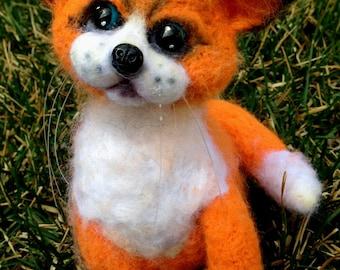 Felted Toy Fox