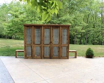 rustic tall storage reclaimed barn wood cabinet w