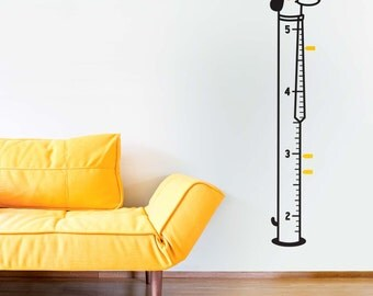 Growth Chart decal: Sausage Dog / Sticker Height Chart Wall decal / 140 cm Ruler Decal Nursery decor / Kids room decor / Animal decal