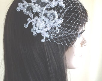 Birdcage veil, white birdcage veil, ivory birdcage veil, gold birdcage veil, made in U.S.A., READY TO SHIP