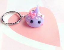Purple Hoppe Chan Cute Keychain, Sweet Kawaii Phone Charm, Tamagotchi, Kawaii Animal, Fairy Kei Cute Japanese Rhinestone Charm, Cute Gifts