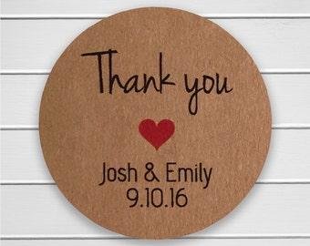 Thank You Wedding Stickers, Thank You Wedding Seals, Wedding Stickers (#196)