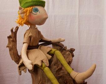 Handmade Peter Pan doll