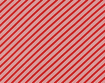 Candy Cane Stripes - Red and Green fabric - jannasalak - Spoonflower