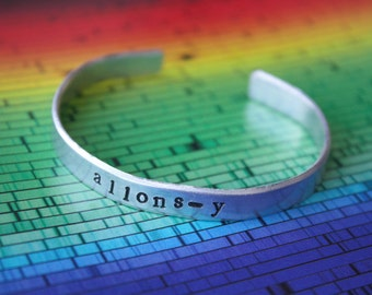 Allons-y! Tenth Doctor - Doctor Who Inspired Cuff Bracelet