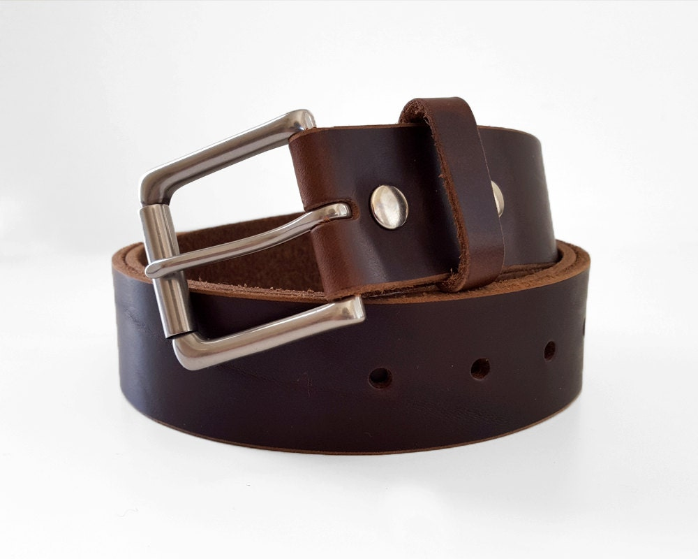 brown chromexcel horween leather belt 1 5 w