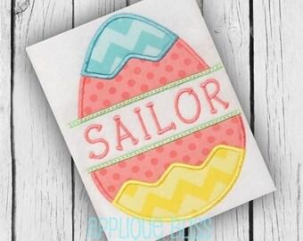 Split Easter Egg Digital Applique Design - Easter - Machine Embroidery - Easter Applique Desgin - Easter Embroidery Design - Easter Egg