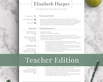 teacher resume template for word pages 1 3 page resume for teachers