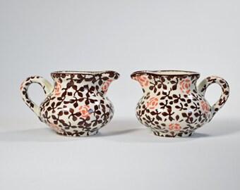 2 vases SMF Schramberg 3279 series Lisett Art Deco porcelain hand-painted