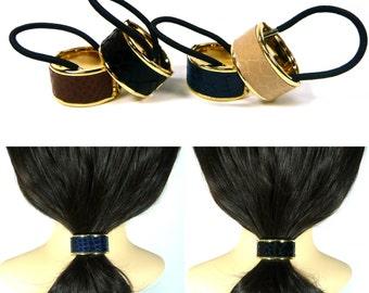 Leather Hair Tie Etsy - Ponytail cuff diy