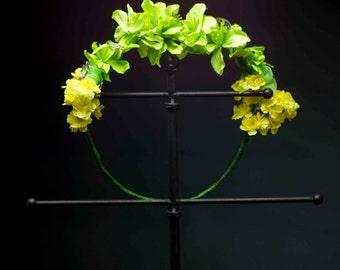 Peridot Flower Crown - OOAK