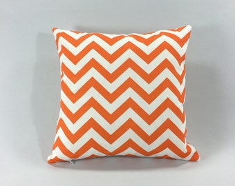 Tennessee Orange Chevron Pillow Cover - Orange Zig Zag Throw Pillow Cover - Accent Pillow - Tennessee Orange Zig Zag Print- Hidden Zipper