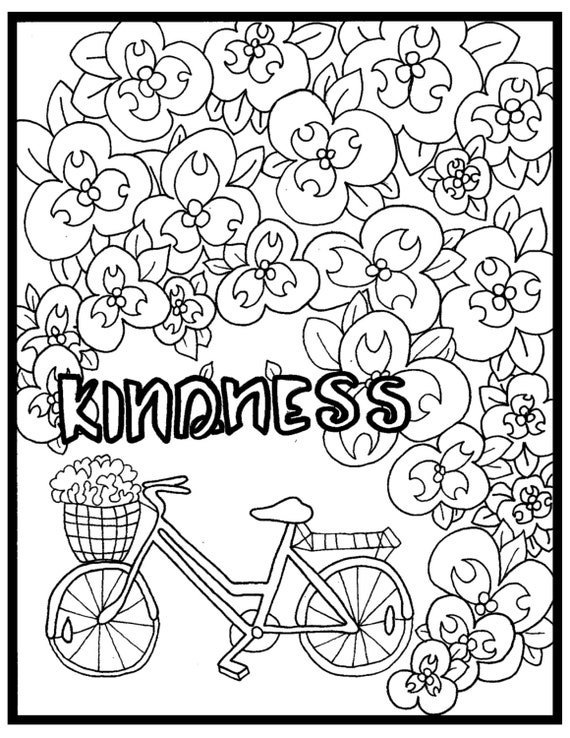 compassion coloring pages | Coloring Page-Color4aCause: Autism Kindness by Color4aCause