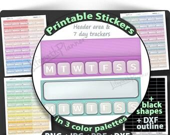 Daily Tracker stickers habit tracker Printable Planner Stickers printable habit stickers for use in Erin Condren Planner Printable Stickers