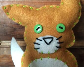 Fox Felt Cat Toy With Catnip