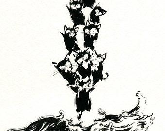 "Polar Ice Cat 8"" x 10"" Print"
