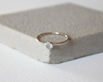 Sterling silver Moonstone stacking ring, thin silver ring, gemstone ring, stacking ring, delicate jewellery,