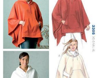 Kwik Sew 3305 Misses' Set of Ponchos Sewing Pattern