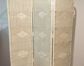 Antique Victorian Wicker Room Divider Folding Privacy Screen Bohemian Gypsy All Original Stick N Ball 6FT Tall White