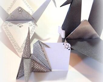 Origami Crane Wedding Place Card Holders, Escort Cards, Origami Place Cards, Origami Cranes, Table Place Card Holders, Wedding Decorations