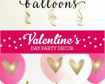 Valentines Day Decorations - Valentines Day Party Decorations Ideas - Valentines Day Gift for Her for Kids   (EB3110HRT) -SET of 3 Balloons