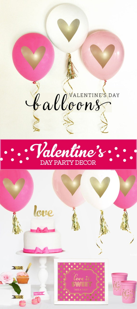 Valentines day heart balloons valentine 39 s day wikii for Balloon decoration for valentines day