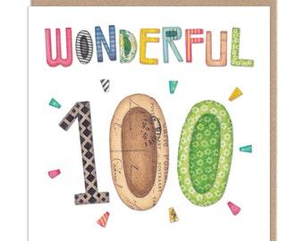 Wonderful 100 - Birthday Card
