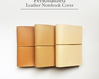 FREE SHIPPING Handmade Leather Traveler's Notebook Cover /Midori style notebook cover/Brown/Honey Brown/Peach/Leather Journal / fauxdori