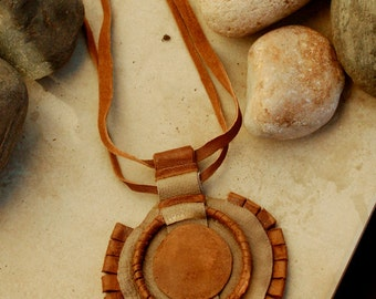 Statement necklace leather, Brown Leather Necklace, Bohemian leather necklace, Leather necklaces for women