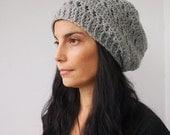 Crochet Pattern woman slouchy hat,  women beret, tam, DIY tutorial, Instant download PDF